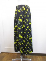 ミューニック Munich  flower printed wide flare pants ブラック