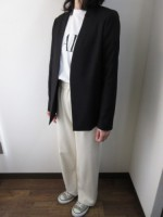 マルシャルテル/MARECHAL TERRE  Seam Tailored Jacket  ブラック
