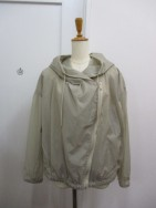 ブティック オーディナリー Boutique Ordinary Through Nylon Draped Motorcycle Jacket