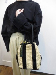 アンパサンド Ampersand square basketbag M  natural