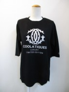 COOLA クーラ CC-emb Loose H/S Tee-blk