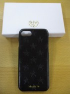 メデル MEDEL cow leather star iphone case NO:ME-18027  black