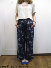 トゥデイフル TODAYFUL Piping Marina Pants-nvy