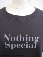 TODAYFUL トゥディフル Nothing Special Tee  black