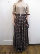 トゥデイフル TODAYFUL Belted Check Skirt  brown