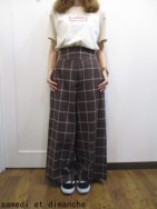 トゥデイフル TODAYFUL  Highwaist Check Trousers ブラウン