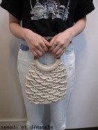 トゥデイフル TODAYFUL Circlehandle Macrame Bag  off white
