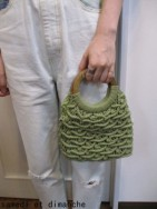 トゥデイフル TODAYFUL Circlehandle Macrame Bag  green