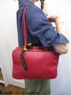アンパサンド Ampersand oiltanning boston bag M-red