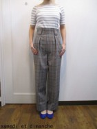 トゥデイフル TODAYFUL Highwaist Check PT-gry