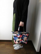 ラプチャー/Rapture  TV-028L PRINT TOTE -Large-  bluepink mix