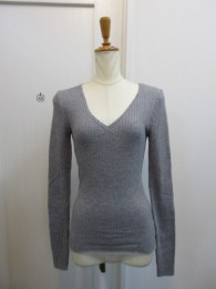 TODAYFUL トゥディフル Cottonwool Vneck Tops-gry
