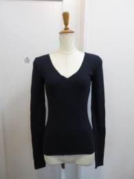 TODAYFUL トゥディフル Cottonwool Vneck Tops-nvy