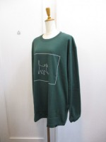 Nora Lily ノラリリー CAT柄 BIG LONGSLEEVE TEE  green