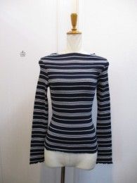 TODAYFUL トゥディフル Multi Border TOPS  navy