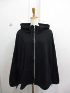 ノラリリー Nora Lily  Short Sweat Full Zip Hoodie ブラック