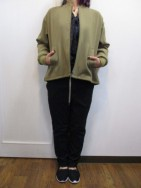ミューニック MuNich wool like streched ox zip blouson-kbg