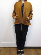 ミューニック MuNich wool like streched ox zip blouson-brc