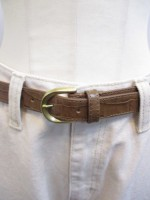 トゥデイフル TODAYFUL Crocodile Leather Belt-bg