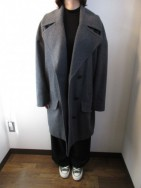 トーマス マグパイ / THOMAS MAGPIE   Wool BIG Pコート  charcoal gray
