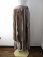 マルシャルテル/MARECHAL TERRE  Pleated Skirt モカ